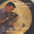 de Back, Hans: In Concert (CD) -A