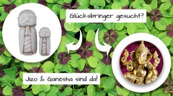 Glücksbringer Jezo und Ganesha