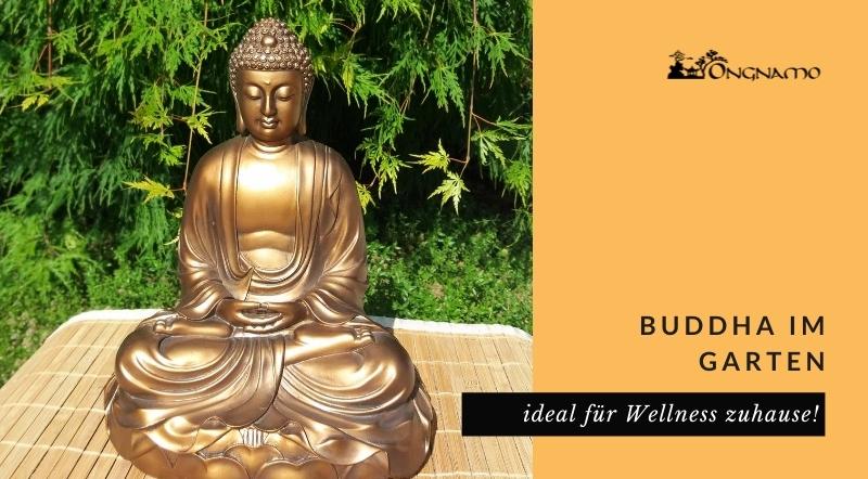 Buddha im Garten für Wellness zuhause.
