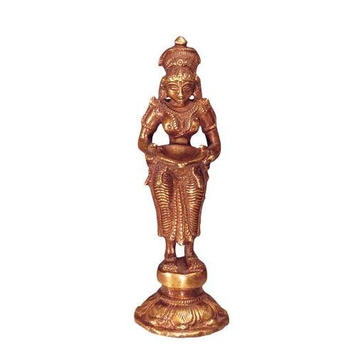 Lakshmi Messing Statue 14cm