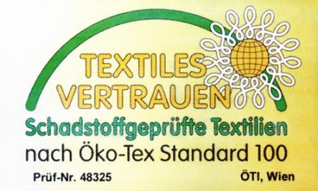 Öko-Tex Siegel für Schadstoffgeprüfte Textilien