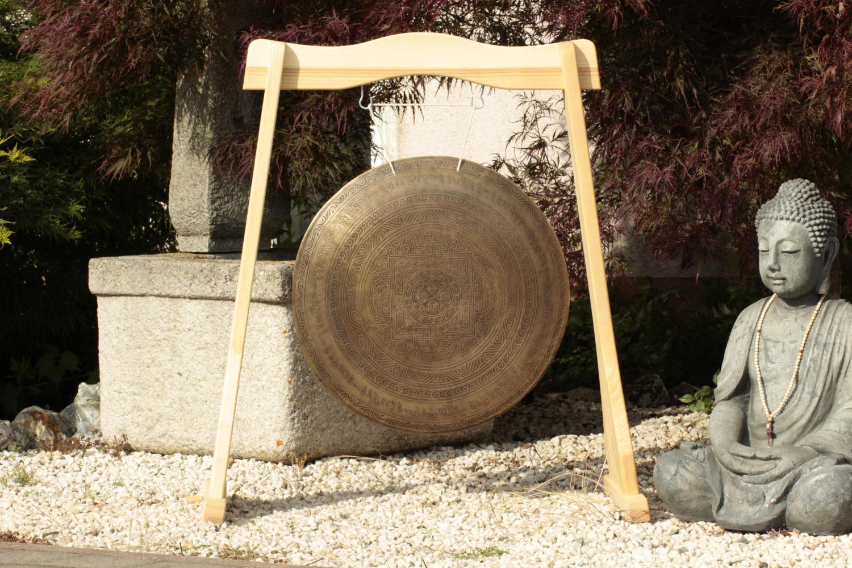 Gong TAJ MAHAL mit Yantra-Motiv für Meditation und Yoga oder als Deko-Idee mit Asia-Spirit