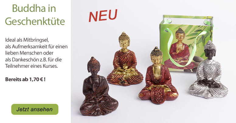 Kleine Buddha-Statue in Geschenkt�te
