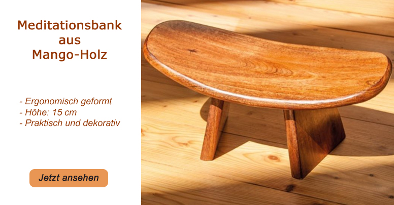 Meditationsbank aus Mango-Holz