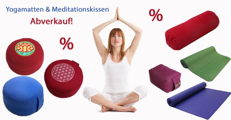Abverkauf Meditationskissen & Yogamatten