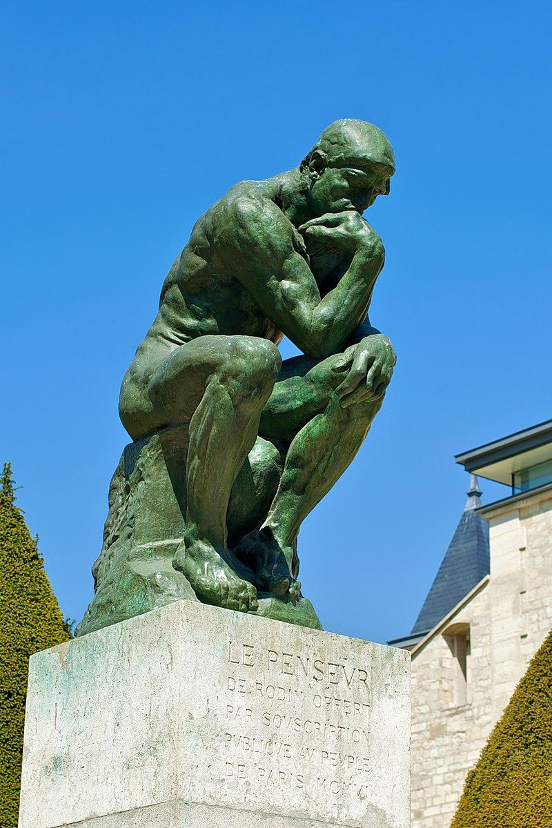 Nachbildung der Statue 'Der Denker' von Rodin