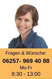 Telefonisch sind wir erreichbar Mo-Frei von 9:00 - 17:00 Uhr