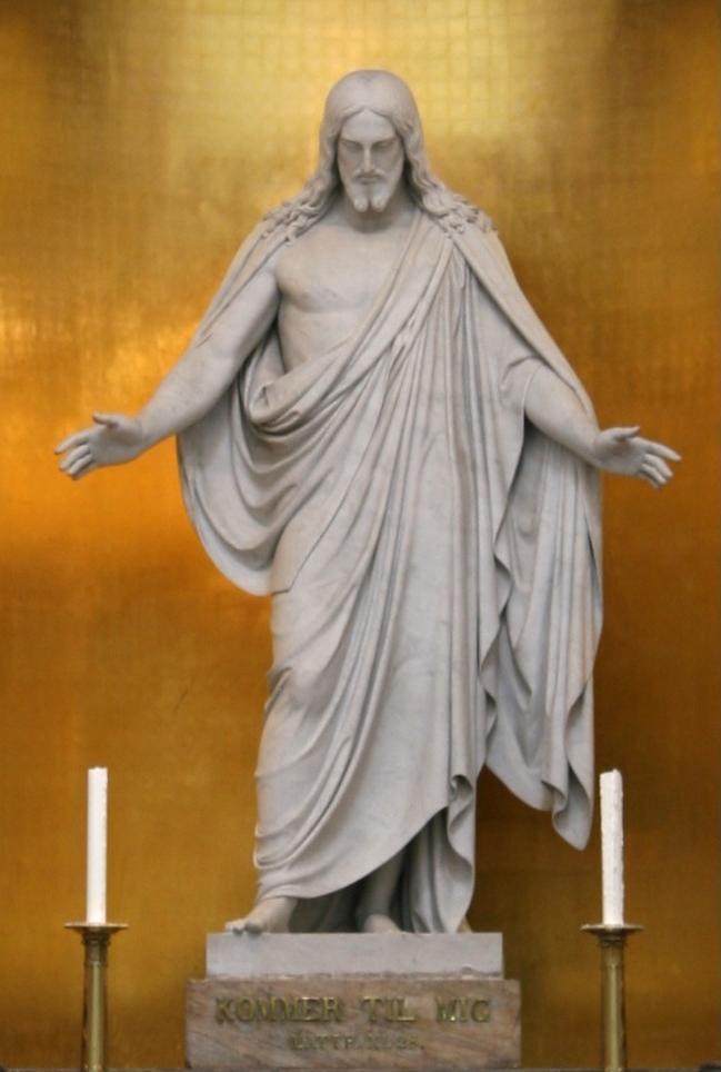 Original Christus-Statue von Thorvaldsen in der Liebfrauenkirche - Kopenhagen